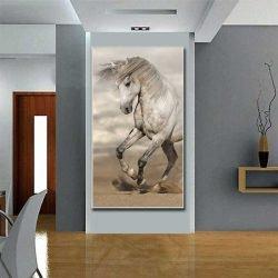 Tableau déco cheval crinière au vent