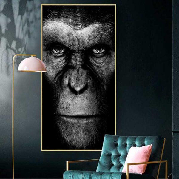 Tableau déco césar singe