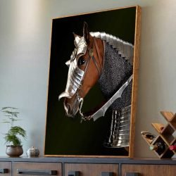 Tableau déco cheval guerre