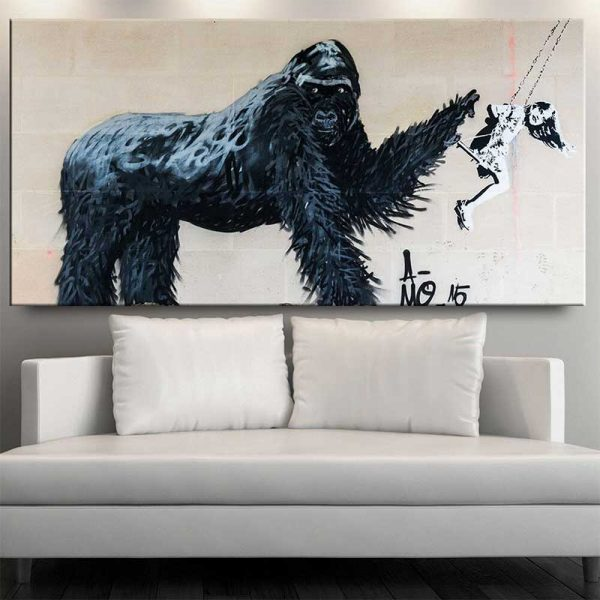 Tableau déco gorille street art