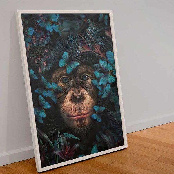 Tableau déco singe design