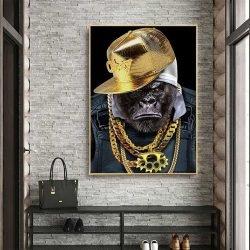 Tableau déco singe hip hop