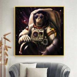 Tableau singe astronaute