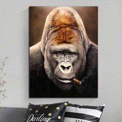 Tableau singe avec cigare