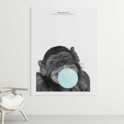 Tableau singe chewing gum