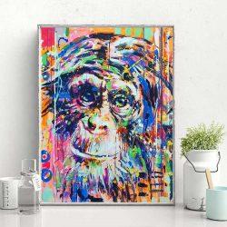 Tableau singe couleur