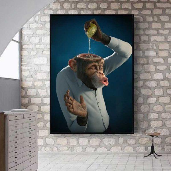 Tableau singe humour