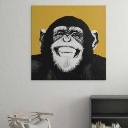 Tableau singe jaune
