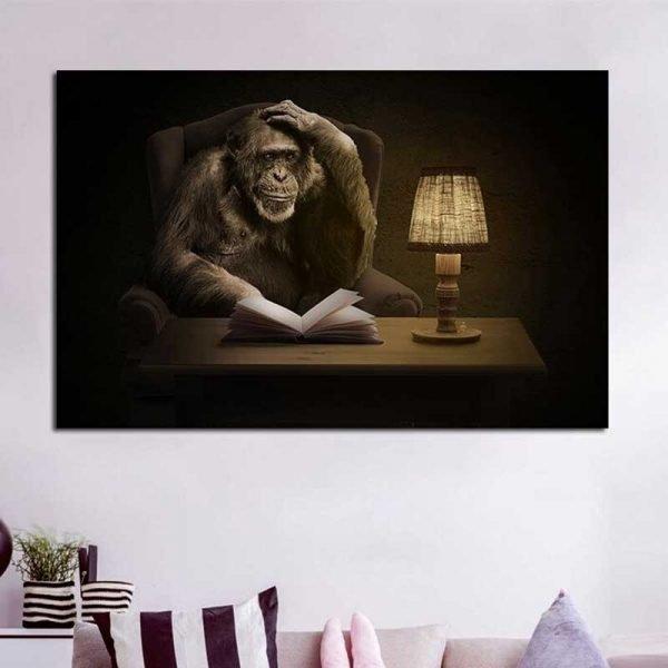 Tableau singe penseur