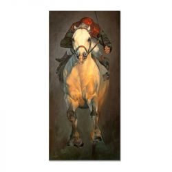 Tableau sur toile cheval de course