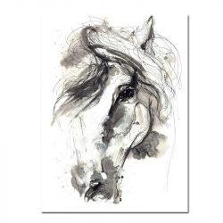 Tableau sur toile cheval dessin