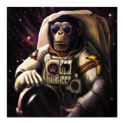 Tableau sur toile singe astronaute
