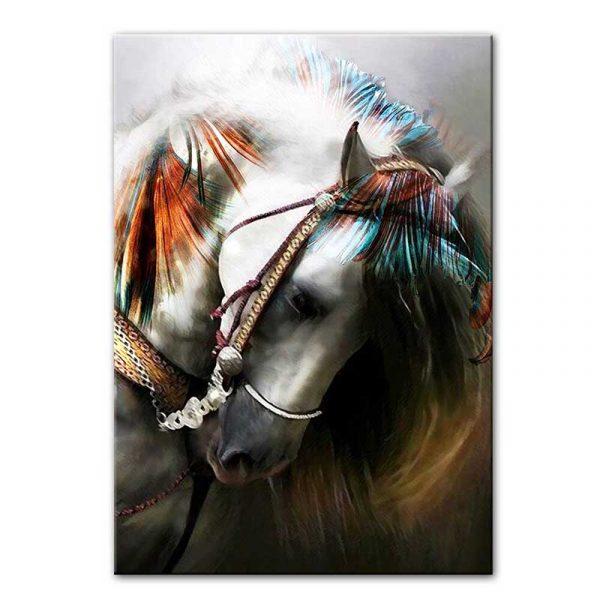 Tableau sur toile tête de cheval