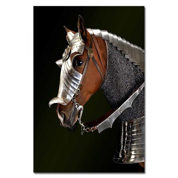 Toile cheval guerre