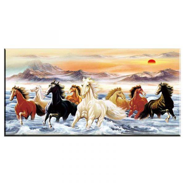 Toile chevaux mer