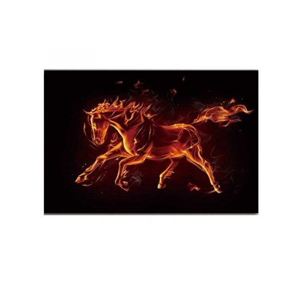 Toile cheval rouge