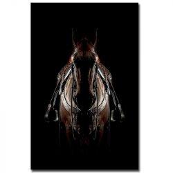 Toile cheval sellé