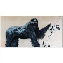 Toile gorille street art