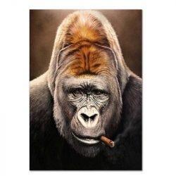 Toile singe avec cigare