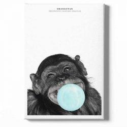 Toile singe chewing gum