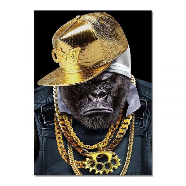 Toile singe hip hop