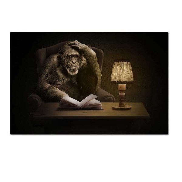 Toile singe penseur