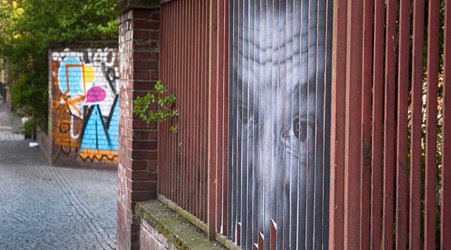 Berlin Mentalgassi Street art