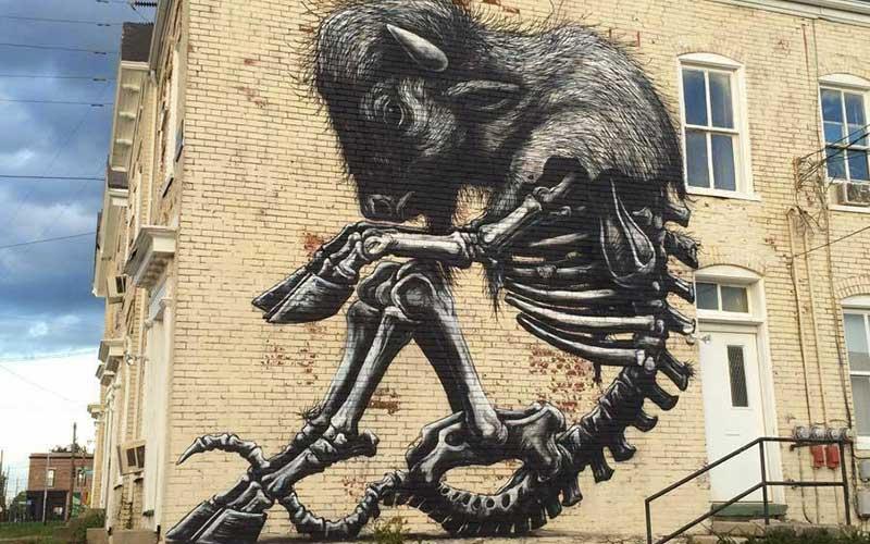 Buffalo Roa street art