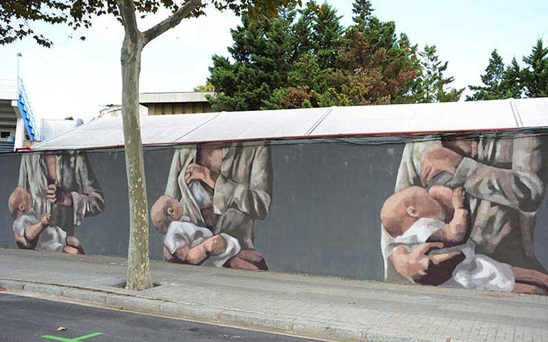 Hyuro femmes et enfants street art