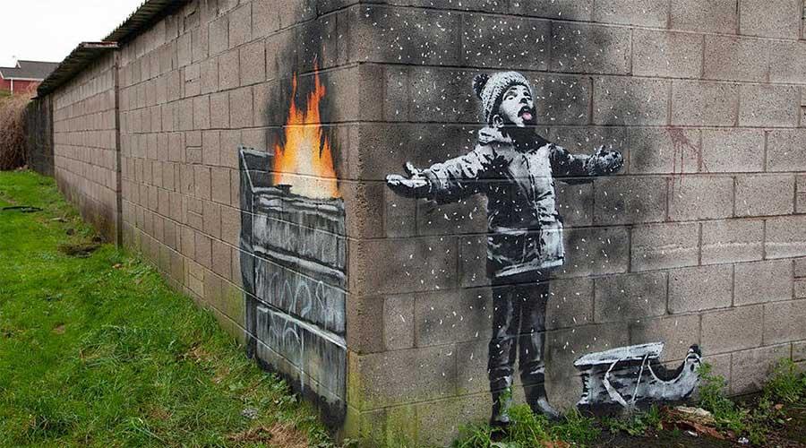 Seasons greetings banksy street art