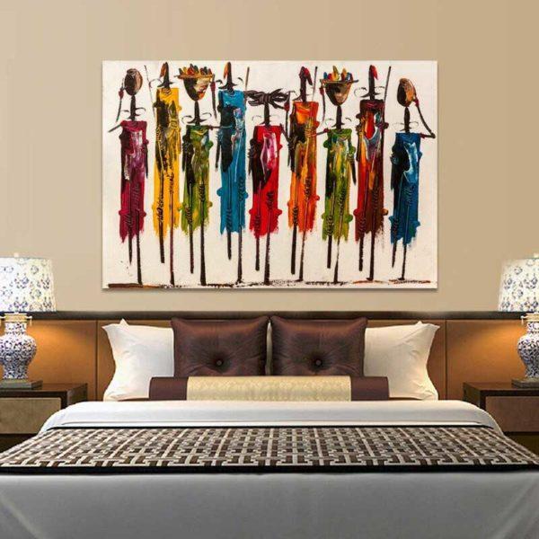 Tableau déco style africain
