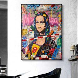 Tableau street art mona lisa
