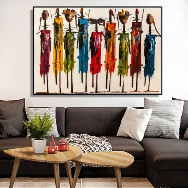 Tableau style africain