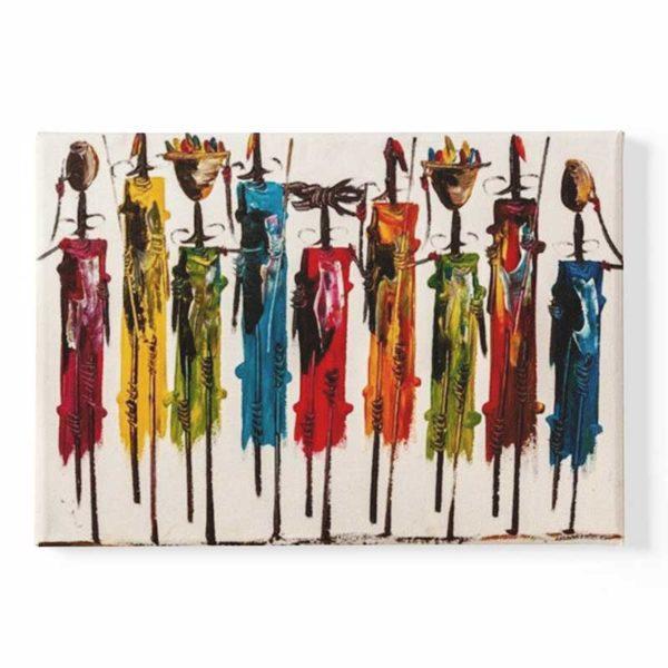 Tableau sur toile style africain