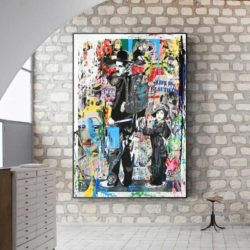 Tableau street art charlie chaplin