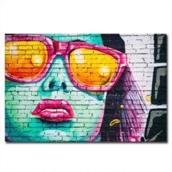 Tableau sur toile street art femme