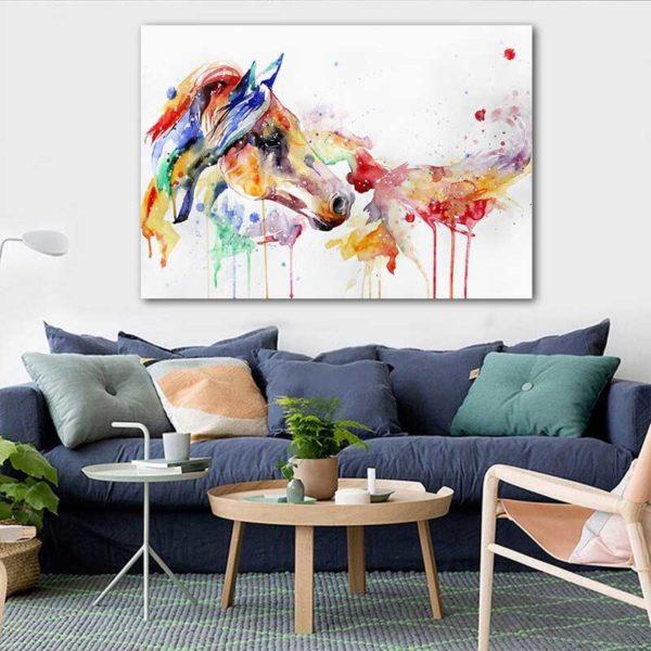 Peinture déco cheval couleur