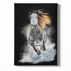 Peinture sur toile cheval au galop
