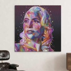 Tableau Lady Gaga pop art
