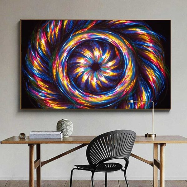 Tableau abstrait coloré