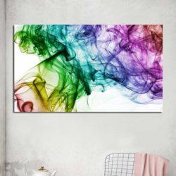 Tableau abstrait fumée