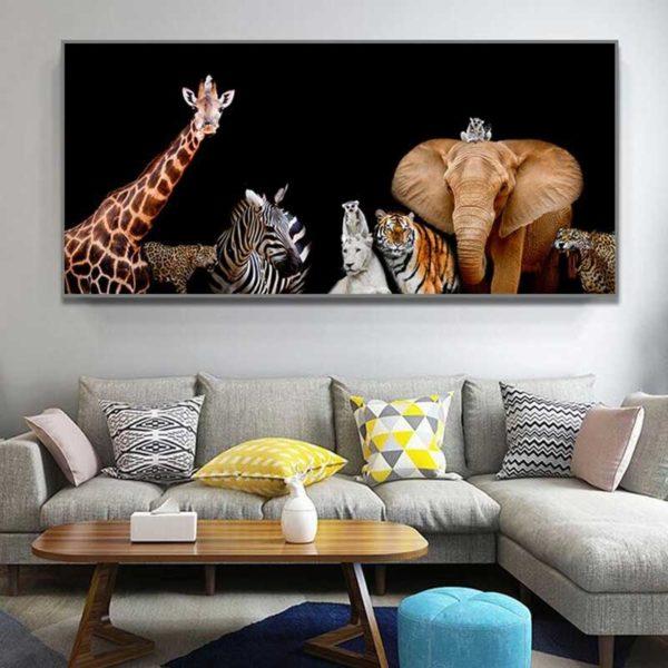 tableau animaux d'Afrique