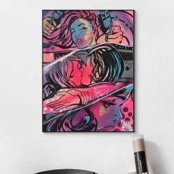 tableau couple pop art