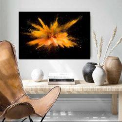 tableau déco abstrait orange