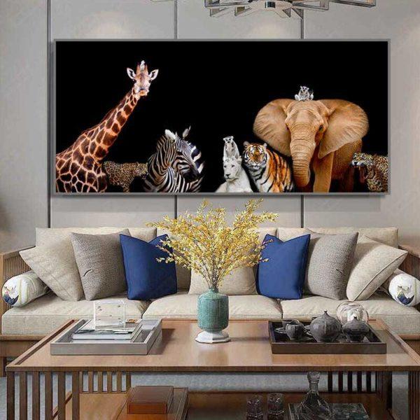 tableau déco animaux d'Afrique