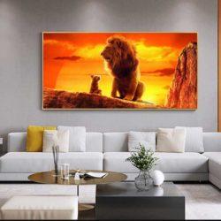 Tableau déco roi lion film