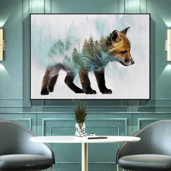 tableau déco scandinave renard