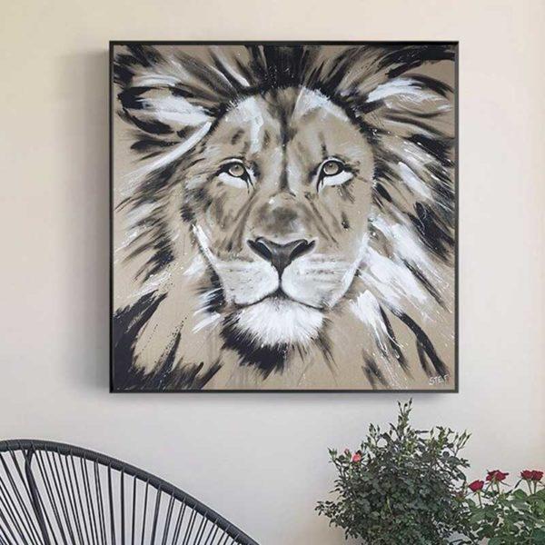 tableau dessin lion