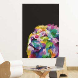Tableau lion couleur