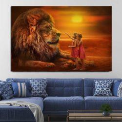 Tableau lion géant